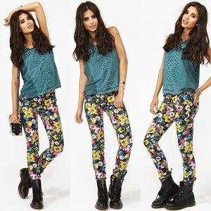 Tripp NYC floral skinny jeans